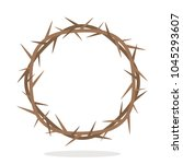 prickly thorns wreath of jesus... | Shutterstock .eps vector #1045293607