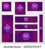 linear banner with... | Shutterstock .eps vector #1045295197
