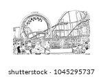 brighton city in england  uk.... | Shutterstock .eps vector #1045295737