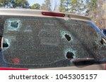 replacing auto glass windscreen ... | Shutterstock . vector #1045305157