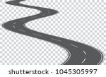 vector winding road isolated on ... | Shutterstock .eps vector #1045305997