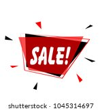 sale  sign with red label | Shutterstock .eps vector #1045314697