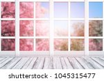 room interior with window frame ...   Shutterstock . vector #1045315477