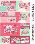 spring sale  summer sale... | Shutterstock .eps vector #1045351327