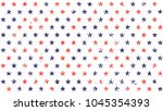 4th of july stars grunge... | Shutterstock .eps vector #1045354393