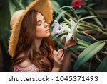close up portrait of a ... | Shutterstock . vector #1045371493