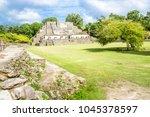 belize  central america  altun... | Shutterstock . vector #1045378597