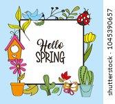 seasonal weather spring | Shutterstock .eps vector #1045390657