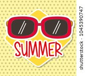 seasonal weather summer | Shutterstock .eps vector #1045390747