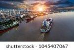 logistics and transportation of ... | Shutterstock . vector #1045407067