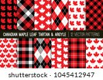 canadian vector patterns in... | Shutterstock .eps vector #1045412947