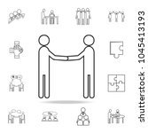 business manner greetings icon. ... | Shutterstock .eps vector #1045413193