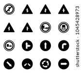 solid vector icon set   no... | Shutterstock .eps vector #1045428973