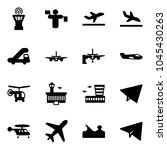 solid vector icon set   airport ... | Shutterstock .eps vector #1045430263