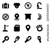 solid vector icon set  ... | Shutterstock .eps vector #1045434457