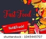 fast food menu poster template... | Shutterstock .eps vector #1045445707
