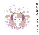 illustration of a girl in... | Shutterstock .eps vector #1045450357