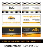 business card taxi   first set... | Shutterstock .eps vector #104545817