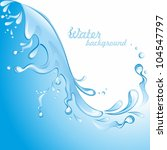 Water Background.  Vector...