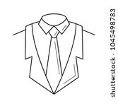suit vector line icon isolated...   Shutterstock .eps vector #1045498783