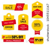 stickers  price tag  banner ... | Shutterstock . vector #1045511167
