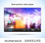 pixel perfect video player for... | Shutterstock .eps vector #104551193