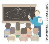 school lesson scene vector image | Shutterstock .eps vector #1045512097
