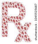 rx symbol collage created in... | Shutterstock .eps vector #1045525687