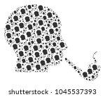 smoking detective composition...   Shutterstock .eps vector #1045537393