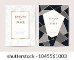 luxury  wedding invitation... | Shutterstock .eps vector #1045561003
