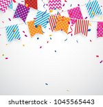 celebration background with... | Shutterstock .eps vector #1045565443