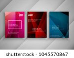 abstract modern colorful... | Shutterstock .eps vector #1045570867