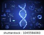 abstract health hud ui... | Shutterstock .eps vector #1045586083