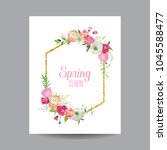 blooming spring and summer... | Shutterstock .eps vector #1045588477