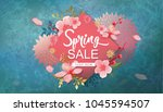 spring sale vector illustration.... | Shutterstock .eps vector #1045594507