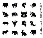 mammal icons. set of 16... | Shutterstock .eps vector #1045596427