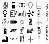 energy icons. set of 25...   Shutterstock .eps vector #1045597687