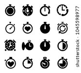 quick icons. set of 16 editable ... | Shutterstock .eps vector #1045598977
