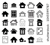 residence icons. set of 25... | Shutterstock .eps vector #1045599787