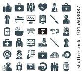 patient icons. set of 36... | Shutterstock .eps vector #1045603087