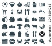 Eat Icons. Set Of 36 Editable...