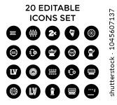 jackpot icons. set of 20... | Shutterstock .eps vector #1045607137