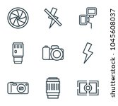 shutter icons. set of 9... | Shutterstock .eps vector #1045608037