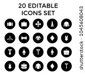 suit icons. set of 20 editable...   Shutterstock .eps vector #1045608043