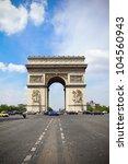arc de triomphe in paris | Shutterstock . vector #104560943