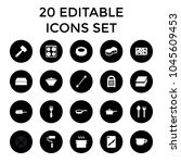 utensil icons. set of 20... | Shutterstock .eps vector #1045609453