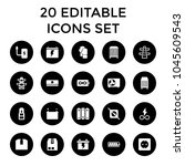 supply icons. set of 20... | Shutterstock .eps vector #1045609543
