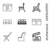 director icons. set of 9... | Shutterstock .eps vector #1045610593
