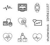 pulse icons. set of 9 editable... | Shutterstock .eps vector #1045611157