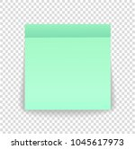 post note paper sheet or sticky ... | Shutterstock .eps vector #1045617973